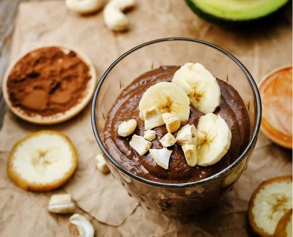 Бананово-шоколадный пудинг